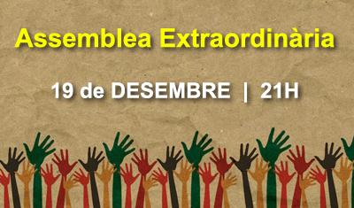 Assemblea Extraordinària 19 de DESEMBRE